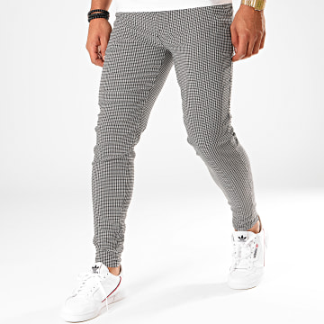Pantalon Carreaux 1646 Blanc Noir