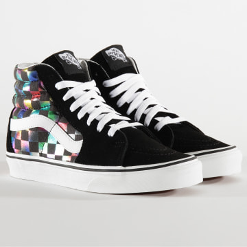 Vans - Baskets Femme Sk8 Hi Iridescent Check A4BV6SRY Black White