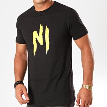 Ninho - Tee Shirt Ninho Noir Jaune