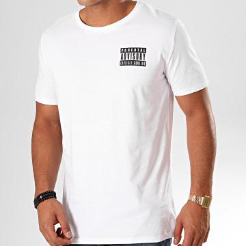 Parental Advisory - Tee Shirt Tag Blanc