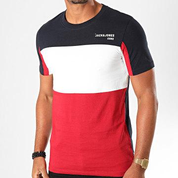 Tee Shirt Block Bleu Marine Rouge Blanc