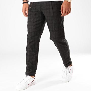 Produkt - Pantalon Carreaux Checked Noir Gris Anthracite