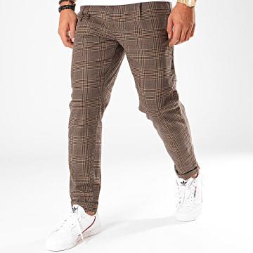 Produkt - Pantalon Carreaux Checked Marron Noir