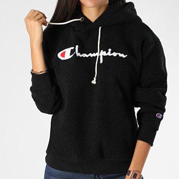 Champion - Sweat Capuche Femme Polaire 112253 Noir