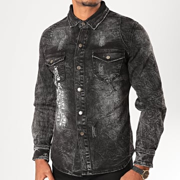 Chemise Jean Manches Longues G022 Gris Anthracite
