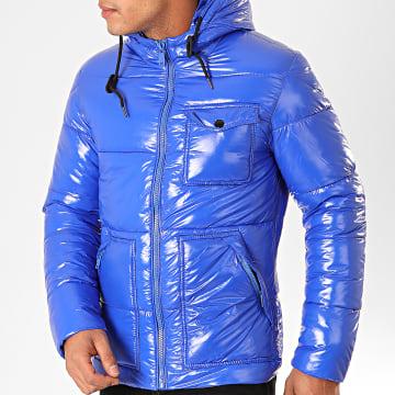 Doudoune Capuche 973 Bleu Roi