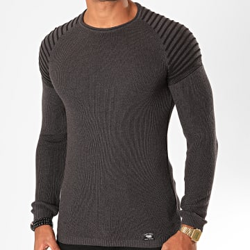 Paname Brothers - Pull 012 Gris Anthracite
