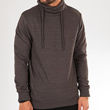 Blend - Sweat Col Amplified 20708978 Gris Anthracite Chiné