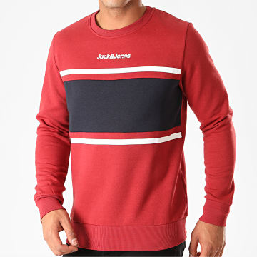 Sweat Crewneck Caine Bordeaux Bleu Marine