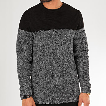 Only And Sons - Pull Sato Noir Blanc