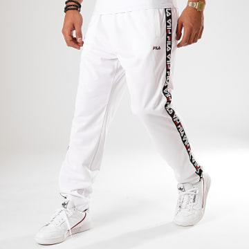 Pantalon Jogging A Bandes Track 681868 Blanc Noir Rouge