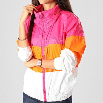 Coupe-Vent Femme A Capuche Abra 682800 Rose Orange Blanc