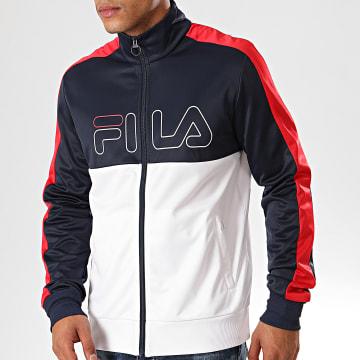 Fila - Veste Zippée Tricolore A Bandes Finn 682870 Bleu Marine Blanc Rouge