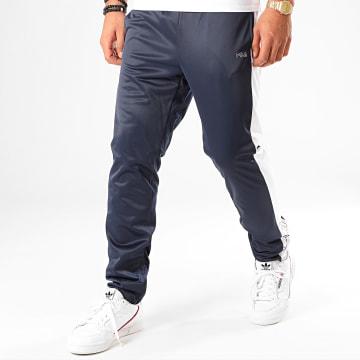 Pantalon Jogging A Bandes Senn 682871 Bleu Marine Blanc