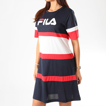 Fila - Robe Femme Tricolore Terhikka 687211 Bleu Marine Blanc Rouge