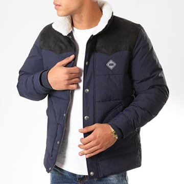 Jack And Jones - Doudoune Luck Puffer Bleu Marine Noir