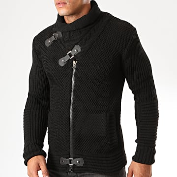 Gilet Zippé Col Amplified 8002 Noir