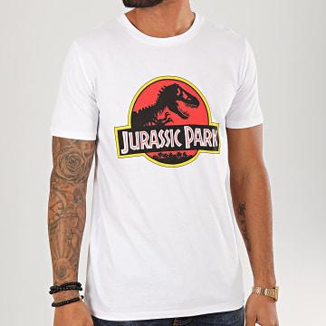 Jurassic Park - Tee Shirt Jurassic Park Original Logo Blanc