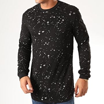 Tee Shirt Manches Longues Oversize UY455 Noir Gris