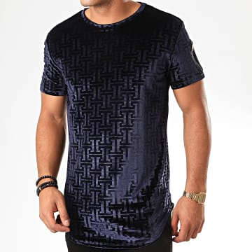 Tee Shirt Oversize Velours UY457 Bleu Marine