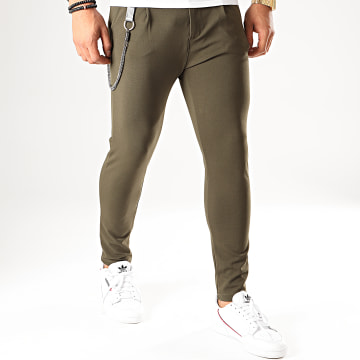 Pantalon Chino PU951 Vert Kaki