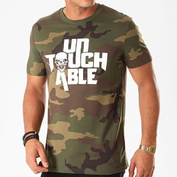 Untouchable - Tee Shirt Logo Camo Vert Kaki