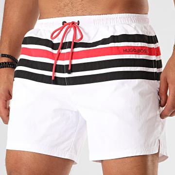 Hugo Boss - Short De Bain Bowfin 50420960 Blanc Rouge Noir