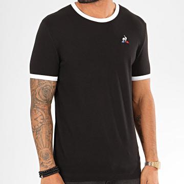 Le Coq Sportif - Tee Shirt Bicolore N1 1922426 Noir Blanc