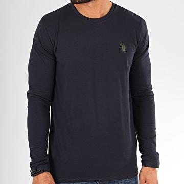 US Polo ASSN - Tee Shirt Manches Longues Sunwear USPA Bleu Marine