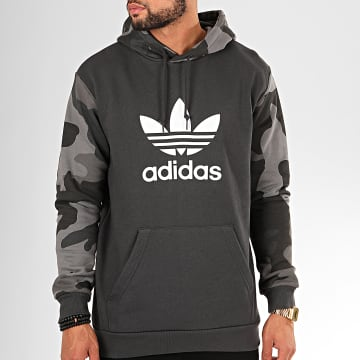 Sweat Capuche Camouflage ED6977 Gris Anthracite