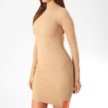 Robe Pull Femme 3960VDR Beige