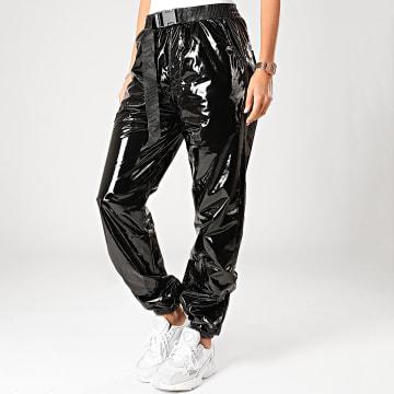 Pantalon Femme Vinyle 4011CPA Noir