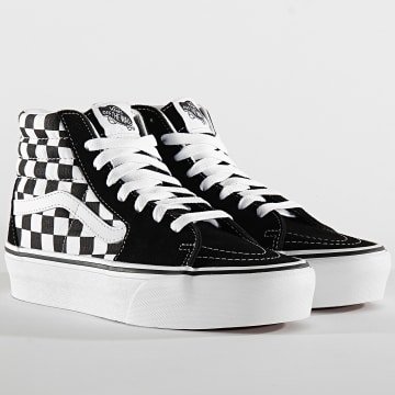 Vans - Baskets Femme Sk8 Hi Platform 2 A3TKNQXH Checkerboard True White Black