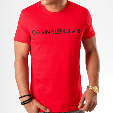 Tee Shirt Slim Institutional Logo 5577 Rouge