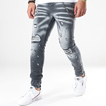 Classic Series - Jean Skinny DHZ-2822 Gris Anthracite