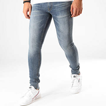 Jack And Jones - Jean Slim Tom Original Am 924 Bleu Denim