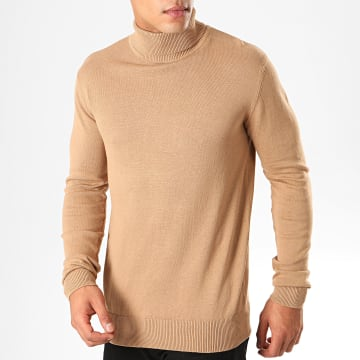 Pull Col Roulé Hume Beige