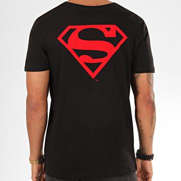 DC Comics - Tee Shirt Back Logo Feutrine Noir Rouge