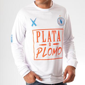 Lacrim - Tee Shirt De Sport Manches Longues Plata o Plomo Marseille Edition Blanc