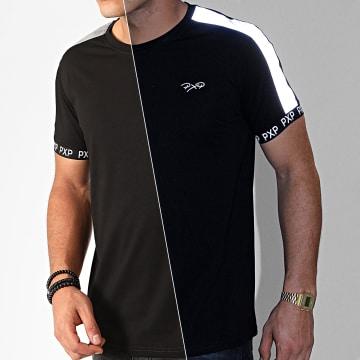 Project X - Tee Shirt A Bandes 1910077 Noir Réfléchissant