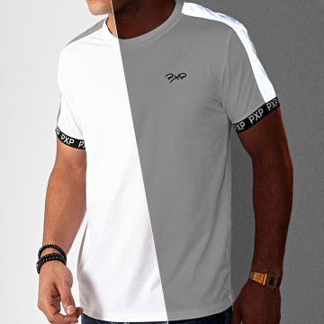 Project X - Tee Shirt A Bandes 1910077 Blanc Réfléchissant