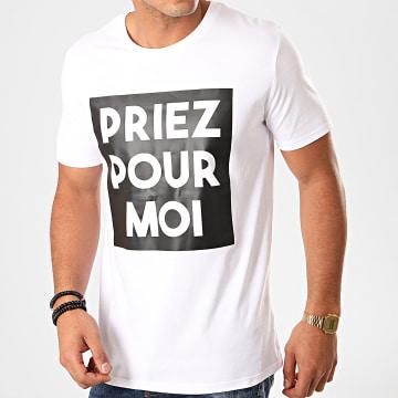 Tee Shirt Priez Pour Moi Blanc