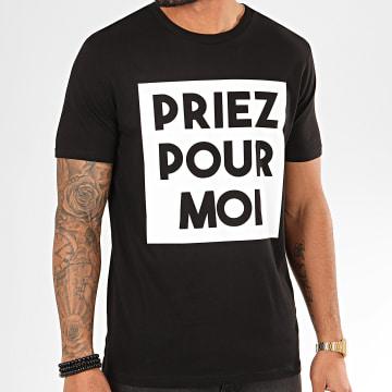 Tee Shirt Priez Pour Moi Noir