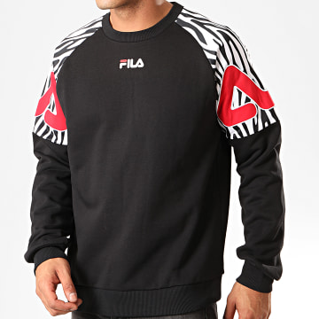 Sweat Crewneck Palini 687364 Noir Blanc Rouge