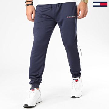 Pantalon Jogging A Bandes Graphics 0318 Bleu Marine