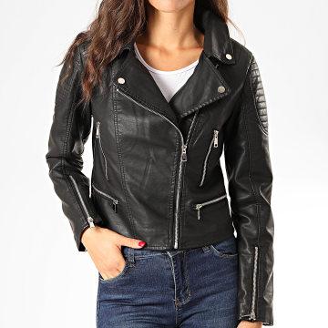 Veste Biker Femme V733 Noir