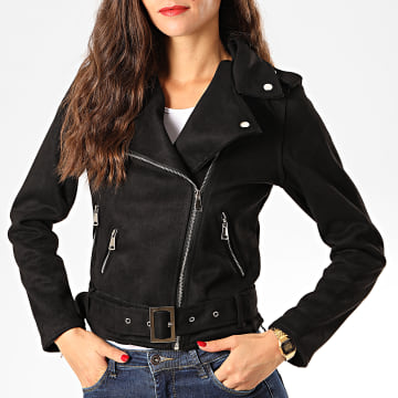 Veste Biker Femme FF109 Noir