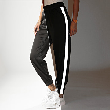 Pantalon Jogging Femme A Bandes V2362 Noir Réfléchissant