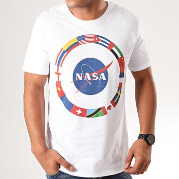 Tee Shirt NASA Around The World Blanc