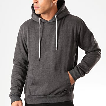 Paname Brothers - Sweat Capuche Soly Gris Anthracite